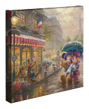 Mickey and Minnie In Paris Canvas Wrap