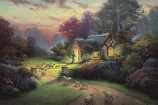 The Good Shepherd's Cottage Painting
