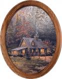 Evening Majesty Cabin Framed Oval Art