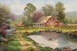Red Barn Retreat Painting
