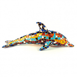 "Mosaic Dolphin Multi Color Figurine 5.9"" Long"