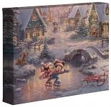 "Mickey & Minnie Sweetheart Holiday 8""x10"" Gallery Wrap"