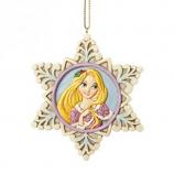 Princess Rapunzel Snowflake Ornament