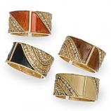 Epoxy & Stone Hinged Bracelets