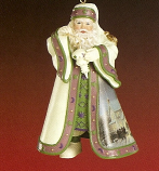 Warm Holiday Welcome Santa Ornament