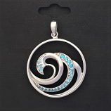 Multi Wave Pendant Charm