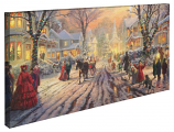 A Victorian Christmas Carol Panoramic Canvas Wrap