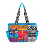 Feline Family Blue Medium Bag