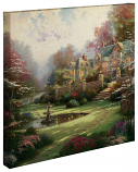 "Gardens Beyond Spring Gate Canvas Wrap 20""x20"""