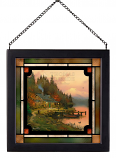 End of a Perfect Day Framed Glass Art