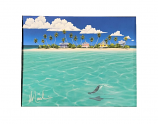 Blissful Isle Matted Art Print