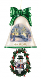 Lets Be Jolly Snowman Bell Ornament