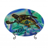 Sea Turtle Platter & Stand