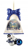 Dreaming of a White Christmas Snowman Bell Ornament