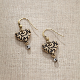 Swirls Heart Earrings