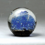 Dolphin Bubbles Paperweight
