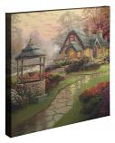 "Make a Wish Cottage Canvas Wrap 20""x20"""