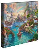 Peter Pan's Neverland Canvas Wrap