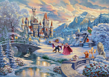 Beauty and the Beast's Winter Enchantment Painting