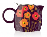 Poppy Fields Pugg Teapot