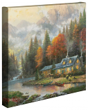 Evening at Autumn Lake Canvas Wrap