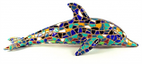 "Mosaic Dolphin Blue Figurine 8.5"" Long"