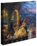 "Beauty & the Beast Dancing in the Moonlight 14""x14"" Gallery Wrap"