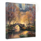 Central Park in the Fall Canvas Wrap