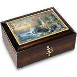 Light of the World Illuminated Heirloom Music Box