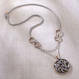 Rosemaling Circle Necklace