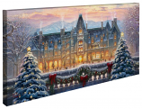 Christmas at Biltmore Panoramic Canvas Wrap