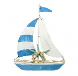 Blue & White Sailboat