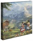 "Mickey & Minnie in the Alps 14""x14"" Canvas Wrap"