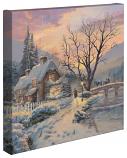 "Winter Evening Gathering 14""x14"" Canvas Wrap"