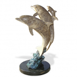 Dolphin Synchronicity Bronze Sculpture