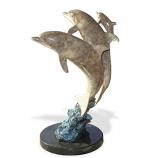 Dolphin Synchronicity Bronze Sculpture