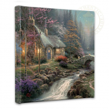 Twilight Cottage Canvas Wrap 14x14