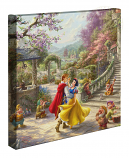 Snow White Dancing in the Sunlight Canvas Wrap