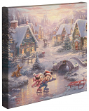 Mickey and Minnie Sweetheart Holiday Canvas Wrap