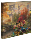 "Mickey & Minnie Sweetheart Central Park 14""x14"" Canvas Wrap"