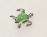 Green Cateye Sea Turtle Pendant Charm