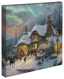 "Santa's Night Before Christmas 14""x14"" Canvas Wrap"