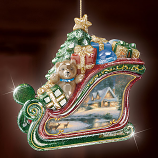Glimmering Sleigh Ornament