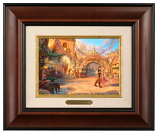 Rapunzel Dancing in the Sunlit Courtyard Brushwork (Frame Choices)