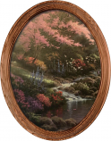Pools of Serenity Stream Framed Oval Art