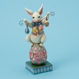 Bunny So Funny on Easter Egg Figurine