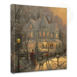 "A Holiday Gathering 14""x14"" Canvas Wrap"
