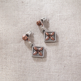 Diamond Quilt Pattern Earrings