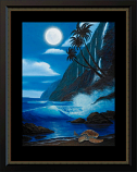 Blue Moon Tranquility Painting
