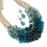 Cluster Necklace & Earring Set
